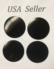 "4pcs Universal Black 65mm/2 9/16""Wheel Center Caps Sticker Cadillac Ford Toyota"