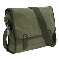 Olive Army Vintage Military Messenger Heavyweight Field Canvas Shoulder Bag Bags