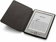 Genuino Amazon Kindle E-reader cuero auténtico funda NEGRO (para Kindle 4 & 5)