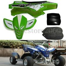 Mini Quad Bike ATV Fairing Kit Complete Plastics With Seat Green/White