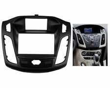 Dash Mount Trim Kit Frame Fascia Stereo For FORD Focus III C-Max 2011 up 2 Din