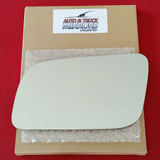 NEW Mirror Glass + ADHESIVE 95-01 GMC CHEVROLET TRUCK SUV Driver Left Side POWER