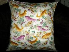 "KOI FISH 16"" SQUARE PILLOW COVER"