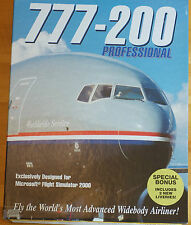 777-200 Professional ADD ON Flight Simulator by Just Flight Boxed Manual