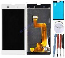 ECRAN LCD + VITRE TACTILE BLOC ASSEMBLE POUR SONY XPERIA T3 BLANC D5102 D5103