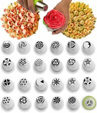 Russian Piping Tips - 29 Piece Cake Decorating Set - Baking Supplies - Icing NEW