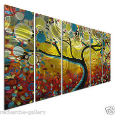 Metal Wall Art Sculpture Set Visual Effect Modern Abstract Sunny Swirl Tree