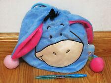 Eeyore Plush Drawstring Bag NWT Winnie the Pooh #Blue