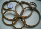 "Set of WOODGRAIN Flexi Hoops 3"" 4"" 5"" 6"" 7"" 8"" Mixed Packs / Cross Stitch Hoop"