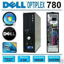 DELL OPTIPLEX 780 SFF PC ~ INTEL CORE 2 DUO 3.0GHz  ~ 500GB ~ 4GB ~ WINDOWS
