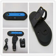 New High Quality Slim Magnetic Wireless Bluetooth Hands-Free Car Kit (Blue)