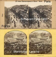 20 Stereoviews von PARIS, Lot 1, France Frankreich 1855 - 1900 images stéréo