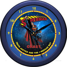 "Personalized Superman 10.75"" Wall Clock Super Hero gift"