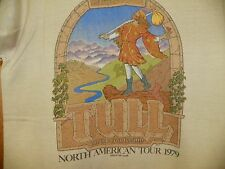 VINTAGE JETHRO TULL 1979 ON THE ROAD AGAIN NORTH AMERICAN TOUR BEIGE  T-SHIRT
