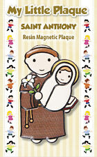 SAINT ANTHONY RESIN PLAQUE FRIDGE MAGNET - SIMILAR TYPE KEYRINGS ARE ALSO LISTED
