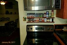 2 New 30 inch Wood Spice Racks. Wooden spice racks. Free floating shelf. Stove