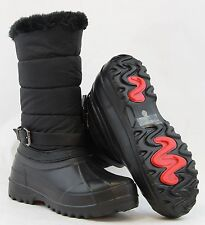 Women Snow Boots Mud Rubber RainBoots Warm Winter Shoes Side Zipper Mid Calf