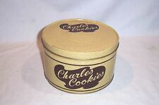 """Vintage CHARLES COOKIES Tin Can Mussers Potato Chips Mountville PA 5"""" High"""