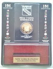 New York Rangers NHL 24KT Gold Coin Wood & Acrylic Display