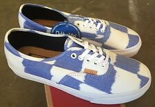 Vans Authentic CA Glitch Check Sz 9 White Blue NIB