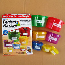 PERFECT PORTIONS FOOD STORAGE CONTAINERS EASY WAY TO LOSE WEIGHT AS SEEN ON TV