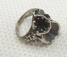 schöner alter Designer-Ring 925/-Silber 70er Jahre