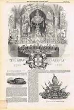 1850 Grand Banquet At York Guildhall Hundred Guinea Dish Burglary At Epsom Bank