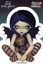 Jasmine Becket-Griffith Voodoo Doll In Blue Lap Fairy 4x5 Die-Cut Decal STICKER