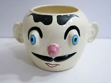 VINTAGE 1950'S PFALTZGRAFF POTTERY MUGGSY DERBY DAN COOKIE JAR - BASE ONLY