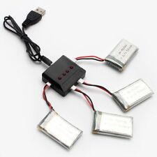 4pcs 3.7V 500mAh 20C Lipo Battery + 4in1 USB Battery Charger For Syma X5SW X5C