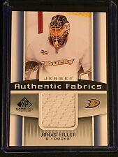 2013-14 UPPER DECK SP GAME USED JONAS HILLER JERSEY DUCKS