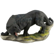 "Prowling Black Panther Figurine Miniature Statue 13.5""L New in Box"