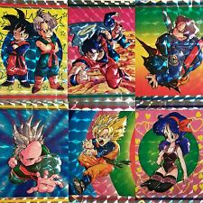 Dragon Ball Z Laser Holo Foil 6 Stickers - New
