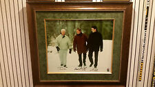GORDIE HOWE-WAYNE GRETZKY-MARIO LEMIEUX RARE POND OF DREAMS SIGNED CANVASS - WGA