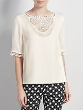 Somerset by Alice Temperley Silk Embroidered Top Blouse RRP £49.00 Top Size 12