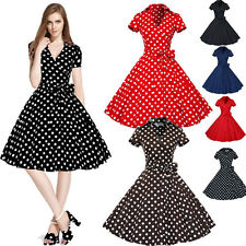 Women Vintage Style 50s 60s Housewife Party Rockabilly Pinup Swing Dress Skater