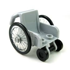 LEGO WHEELCHAIR Light Bluish Gray CITY Handicapped Minifigure Accessory