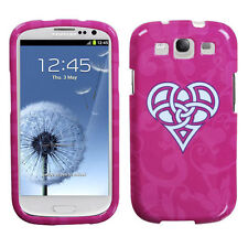 For Samsung Galaxy S III 3 HARD Protector Case Snap Phone Cover Pink Heart Knot
