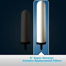 "2 British Berkefeld 9"" White Ceramic Filter Elements"