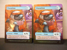 MTG SCG Game Night Fintuition x 2 Foil Tokens