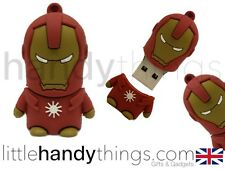 Carino Marvel fumetti Iron Man 8GB USB Flash Drive Memoria penna / stick REGALO PORTACHIAVI