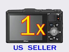 1x Nikon Coolpix S9700 Digital Camera Clear LCD Screen Protector Guard Shield