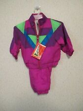 New with Tags Baby Girls' KID FUSION Vintage Nylon Windsuit/Tracksuit Size 18 mo