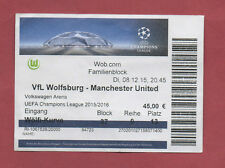 Orig.Ticket  Champions League  15/16  VfL WOLFSBURG - MANCHESTER UNITED ! SELTEN