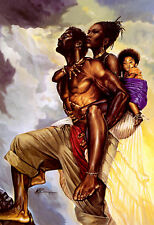 """African American Art """"As One"""" Black Art Print by Kevin Williams WAK"""