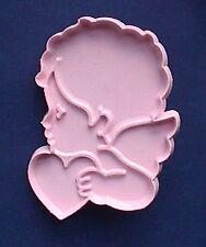 COOKIE CUTTER Hallmark CUPID ANGEL Wings HEART PINK Valentines 1982 SOFT Plastic