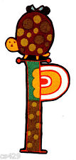 LETTER P MODA MONAGRAM ALPHABET ABC'S  NAME FABRIC APPLIQUE IRON ON
