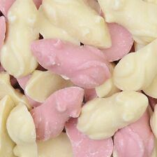 1KG GIANT PINK & WHITE MICE SWEETS - RETRO,PICK N MIX