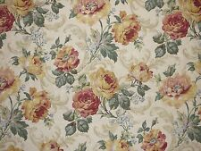 Mill Creek Floral OPAL Teal Green Yellow Drapery Cotton Jacquard Sewing Fabric