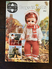 Sirdar Knitting Pattern Book: Guys & Dolls Baby/Fashion Doll Outfits 117